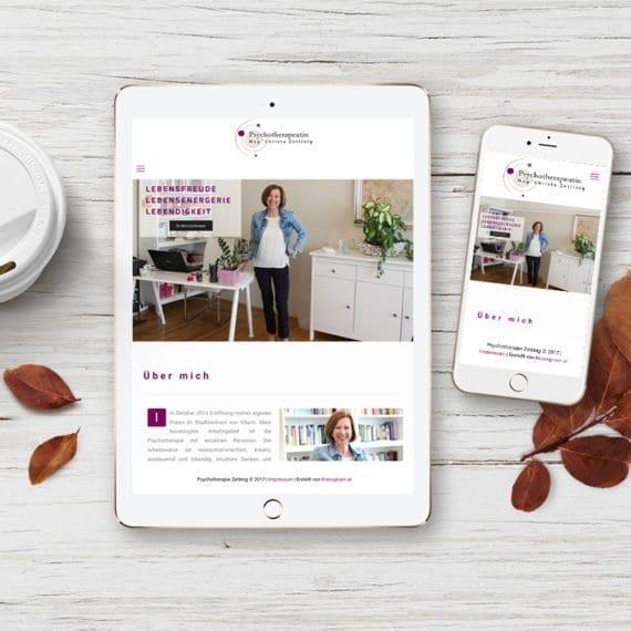 Psychotherapeutin Zettinig Webdesign 1