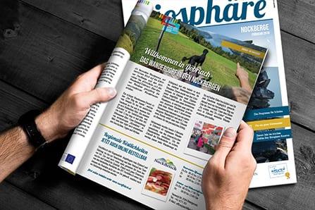 Biosphärenpark Magazin Grafikdesign by krassgrün.at