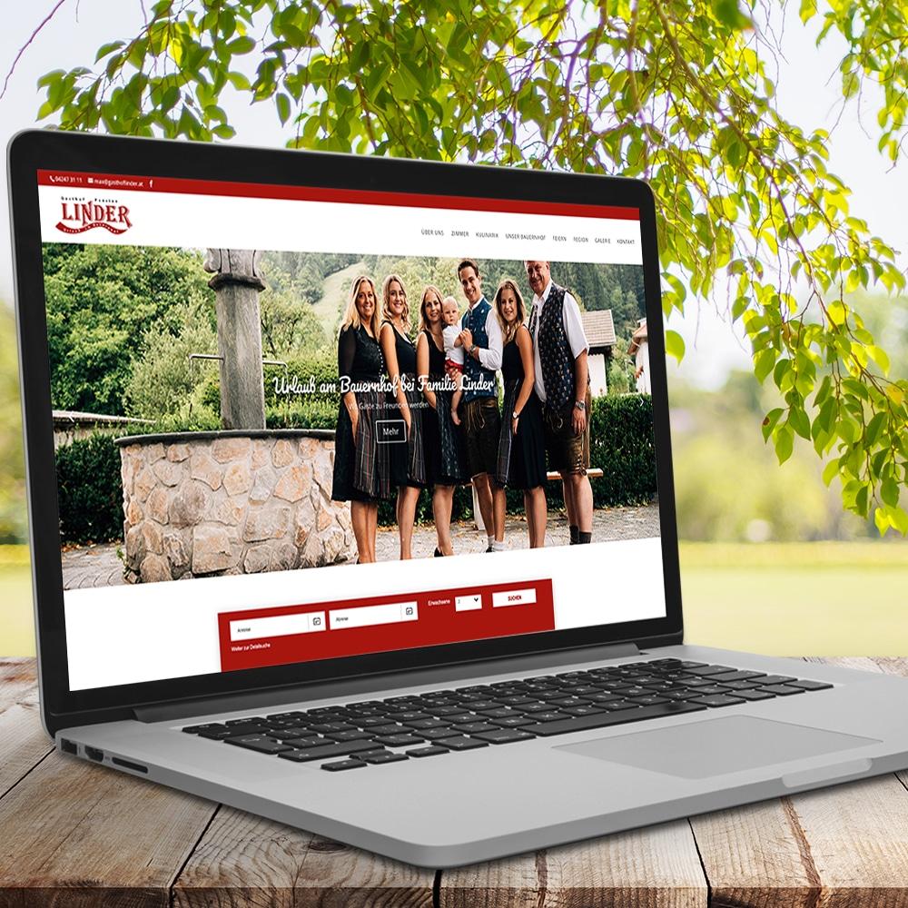 Webdesign für Gasthof Linder by krassgrün.at