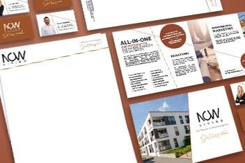 Grafikdesign für Now Living - Werbeagentur Kärnten krassgrün.at